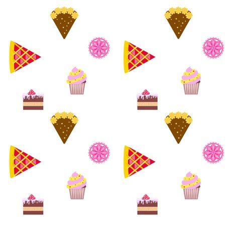 Konfekt-Vektor-Set. Kuchen und Kekse Abbildung