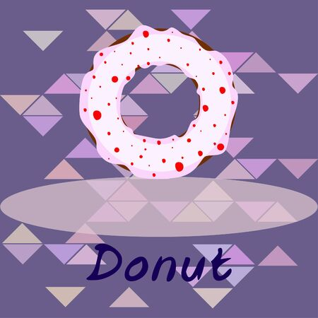 Donuts with pink, chocolate, lemon, blue mint glaze. Vector background. Stock fotó - 129555592