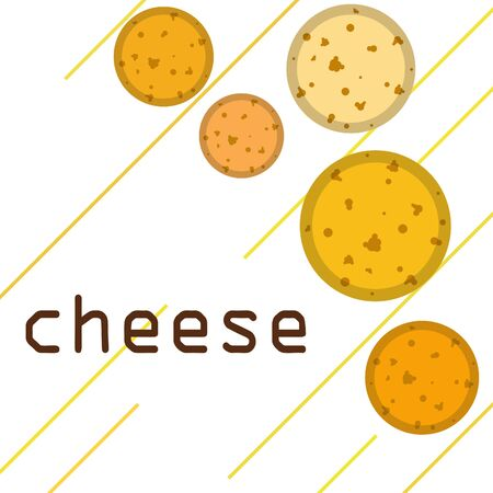 Cheese vector, appetizing cheese background, dairy product. Ilustrace