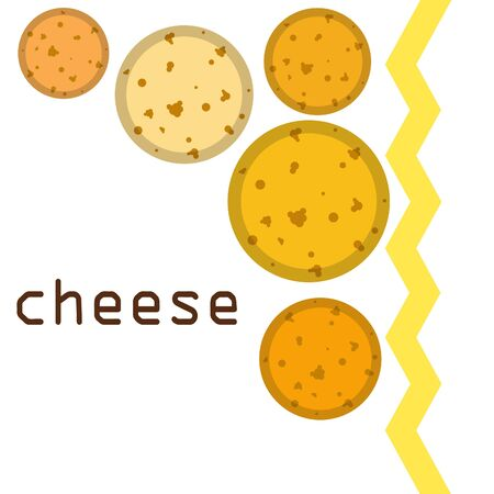 Cheese vector, appetizing cheese background, dairy product. Illusztráció