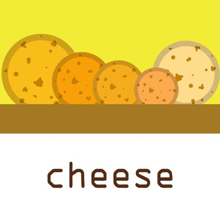 Cheese vector, appetizing cheese background, dairy product. 矢量图像