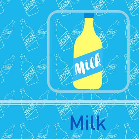 Vector illustration of a set of labels for milk and dairy 版權商用圖片 - 129988502