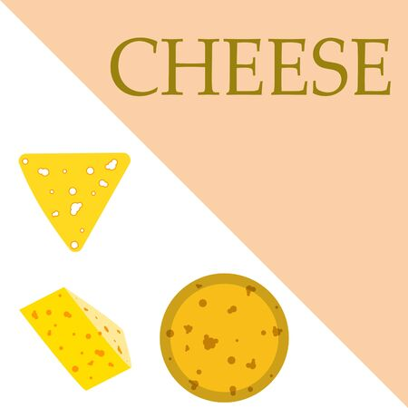 Cheese vector, appetizing cheese background, dairy product. Vector Illustration