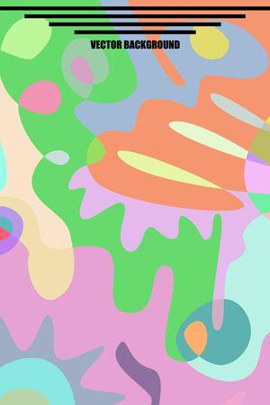 Modern brochure covers, futuristic design. Abstract Diffuse colored spots background. Vector template minimalist poster, pop art flyer, typography wallpaper Art, print, web banner. Foto de archivo - 130005280