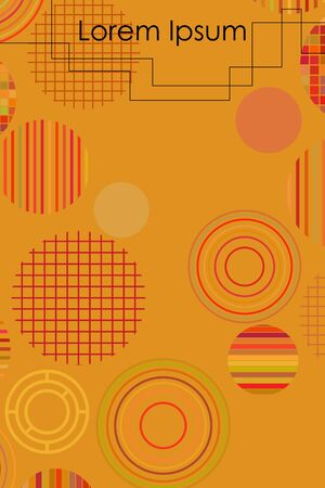 Vector geometric circles. Abstract creative concept for flyer, invitation, greeting card, poster design.
