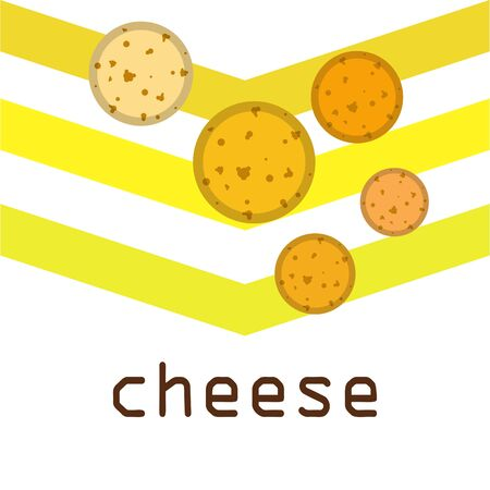 Cheese vector, appetizing cheese background, dairy product. 向量圖像