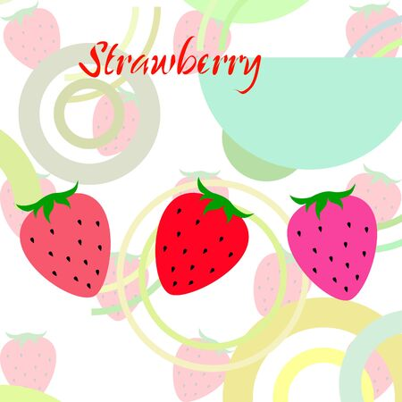 Garden strawberry fruit or strawberries flat color vector icon for food apps and websites.