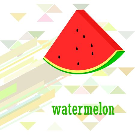 Watermelon. Banner juicy ripe watermelon slices. Summer time. Фото со стока - 130813031