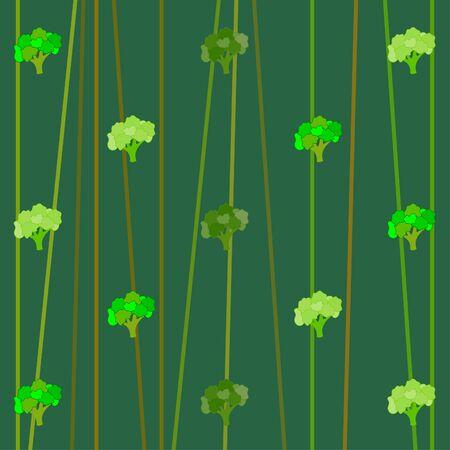 Broccoli, fresh vegetable. Organic food poster. Farmer market design. Vector background.