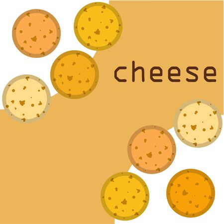 Cheese vector, appetizing cheese background, dairy product Ilustração