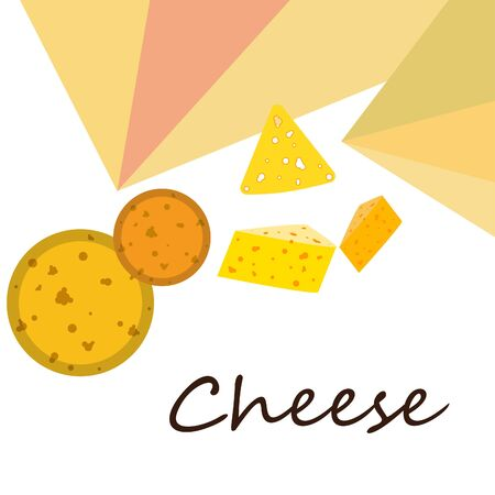 Cheese vector, appetizing cheese background, dairy product Illusztráció