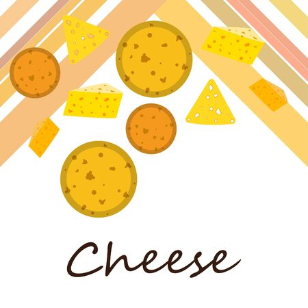 Cheese vector, appetizing cheese background, dairy product Иллюстрация