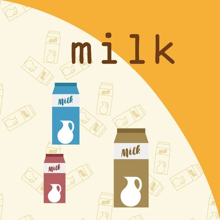 Vector illustration of a set of labels for milk and dairy.