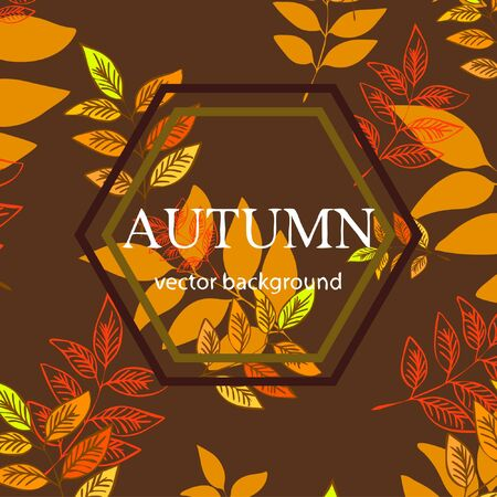 Colorful autumn leaves falling and spinning. Vector background Stock fotó - 133762362