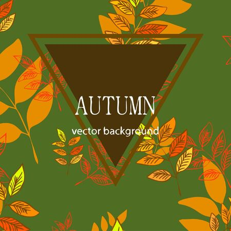 Colorful autumn leaves falling and spinning. Vector background Stock fotó - 133762400