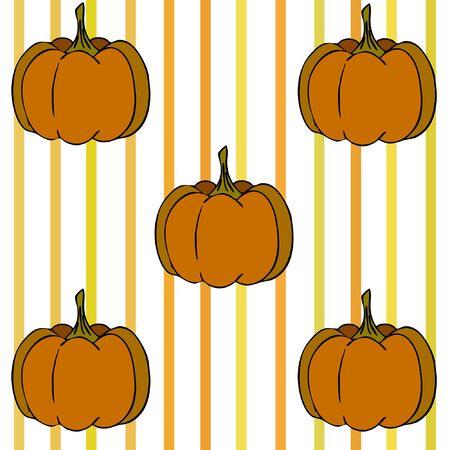 Autumn card, orange pumpkins, vector background. Halloween illustration. October harvest. Nature design Stock fotó - 134863409