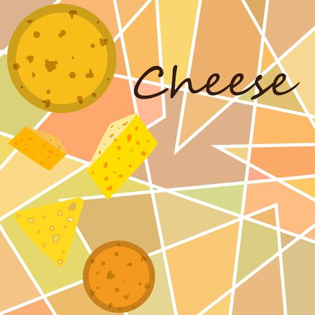 Cheese vector, appetizing cheese background, dairy product. Stock fotó - 133895058