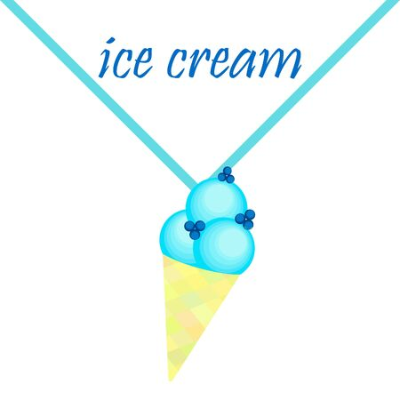 Sweet cartoon ice cream. Vector colorful ice creams Stock fotó - 133893717