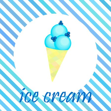 Sweet cartoon ice cream. Vector colorful ice creams Stock fotó - 133893720