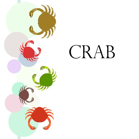 Crabs. Seafood. Vector illustration of a sea animal