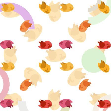 Chicken meat cartoon vector illustration food background. Иллюстрация