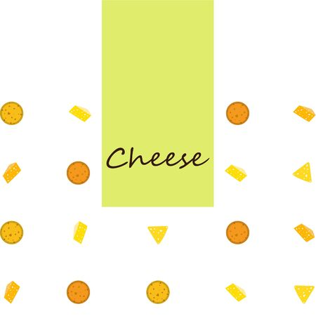 Cheese vector, appetizing cheese background, dairy product.  イラスト・ベクター素材