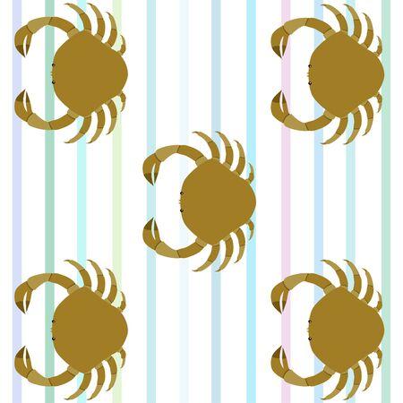 Crabs. Seafood. Vector illustration of a sea animal. Illusztráció