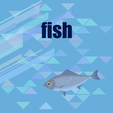 Fish seafood. Vector seafood. Food and restaurant design.