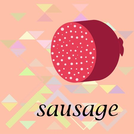 Sausages. Fresh meat products. Sausage icons. Vector background.