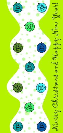 New Year design with stylized christmas ball and christmas tree. Vector illustration Illusztráció