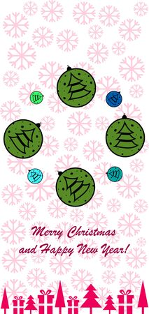 New Year design with stylized christmas ball and christmas tree. Vector illustration Banque d'images - 138233304