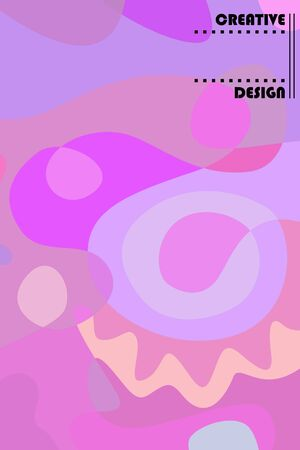 Beautiful abstract spots vector illustration of grunge texture. Stock fotó - 138234176