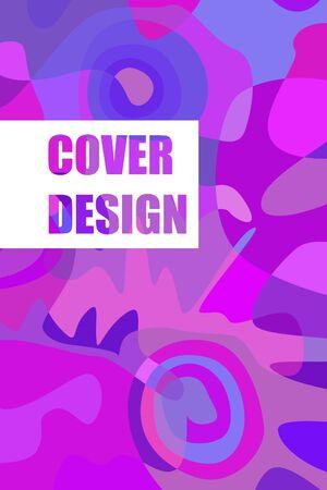 Beautiful abstract spots vector illustration of grunge texture. Stock fotó - 138234184