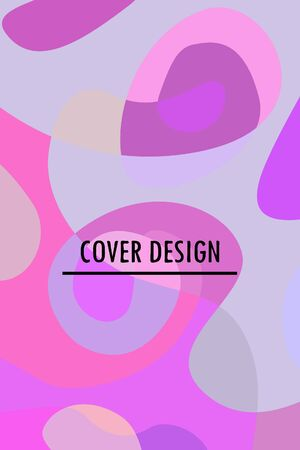 Beautiful abstract spots vector illustration of grunge texture.