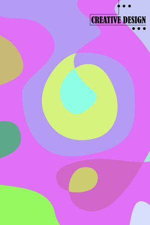 Beautiful abstract spots vector illustration of grunge texture.