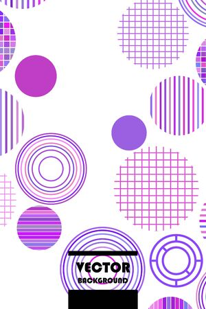 Seamless vector geometric background with place for text. Abstract creative concept for flyer invitation greeting card poster design. Circle multicolor overlapping pattern.