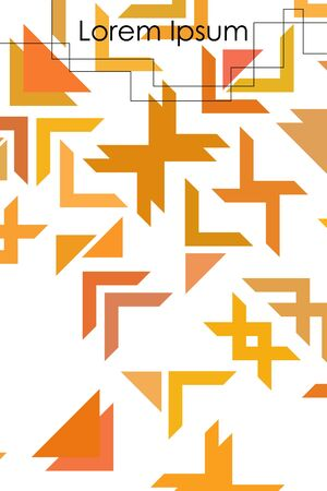 Abstract geometric element in futuristic style . Useful for prints and posters.