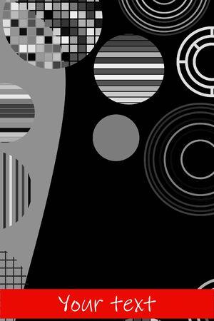 Creative geometric wallpaper. Trendy circle shapes composition. Eps10 vector. Ilustração