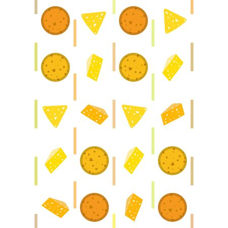Cheese vector, appetizing cheese background, dairy product. Vettoriali