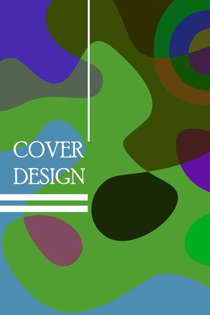 Abstract color modern geometric spots, vector background. Archivio Fotografico - 141648383