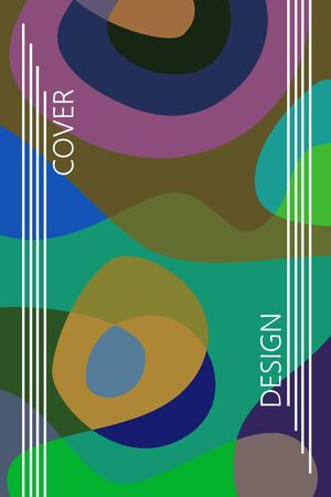 Abstract color modern geometric spots, vector background. Archivio Fotografico - 141650823