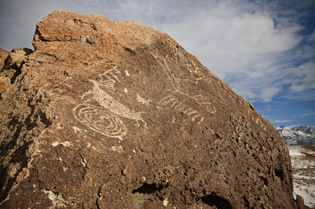 Chigado Petroglyphs along Fish Slough Road in Bishop, CA.