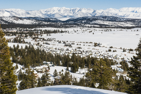 Overlooking Mammoth Lakes Stock Photo