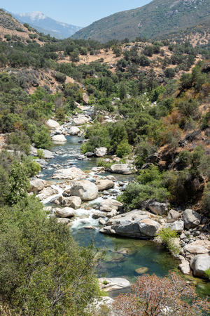 View of the Kaweah River near the entrance to Sequoia National Park, California
