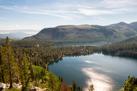 Overlooking Laky Mary and Lake George in Mammoth Lakes, California
