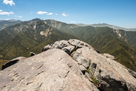 View from Moro Rock in Sequoia National Park, California