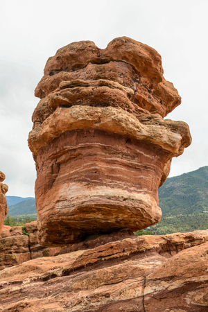 Balanced Rock in Garden of the Gods, Colorado