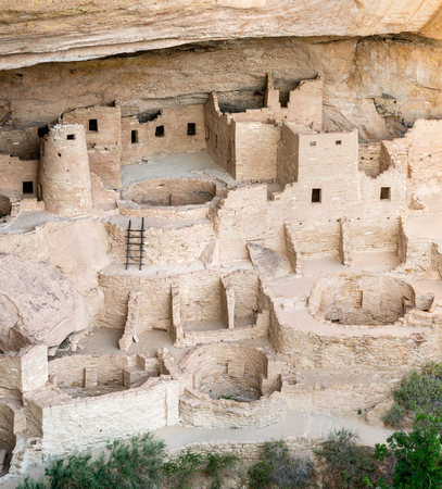 Cliff Palace overlook in Mesa Verde National Park, Colorado Stock Photo