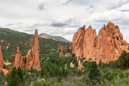 Views of sandstone formations along Central Garden Trail in Garden of the Gods, Colorado