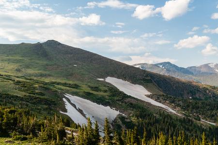 Trail Ridge Road to the alpine tundra in Rocky Mountain National Park, Colorado